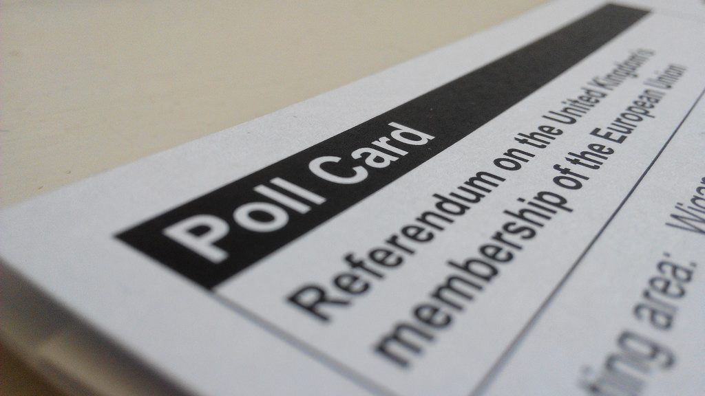 EU Referendum poll card